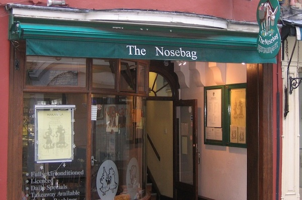 The front of the Nosebag restaurant, Oxford